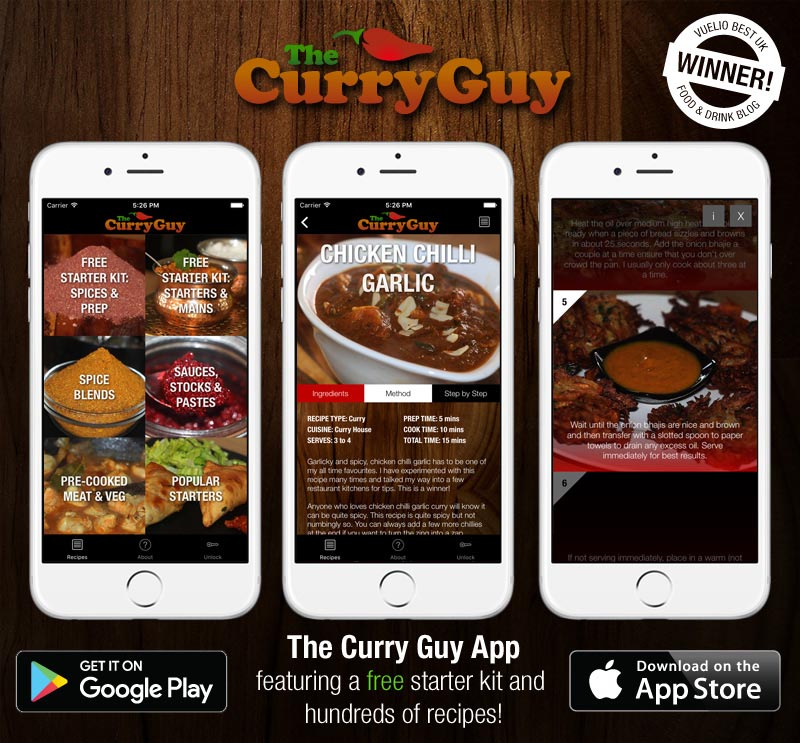 Recipe apps food bloggers and chefs monetize your recipes curry guy recipe app forumfinder Images